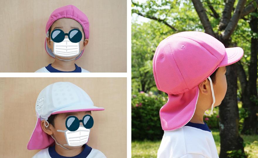 ほっと安心帽カラー帽子タイプの着用